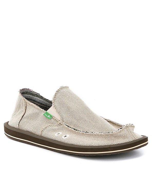 サヌーク メンズ スニーカー シューズ Hemp Slip-On Shoes Natural