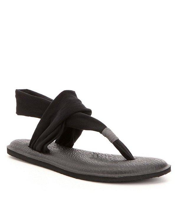 サヌーク レディース サンダル シューズ Yoga Sling Sandals Black