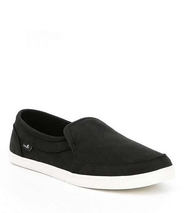 サヌーク レディース スリッポン・ローファー シューズ Pair O Dice Leather Slip-On Shoes Black