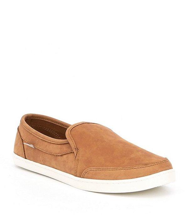 サヌーク レディース スリッポン・ローファー シューズ Pair O Dice Leather Slip-On Shoes Tobacco Brown