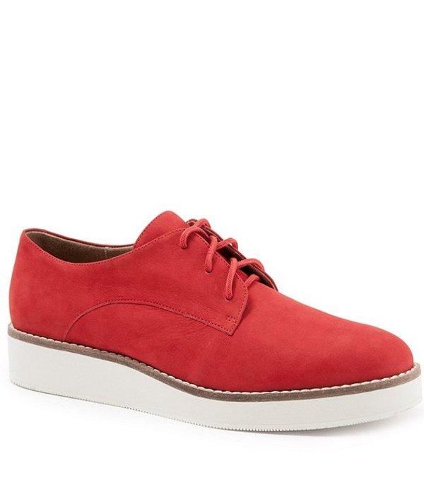 ソフトウォーク レディース スニーカー シューズ Willis Embossed Soft Leather Sneakers Red