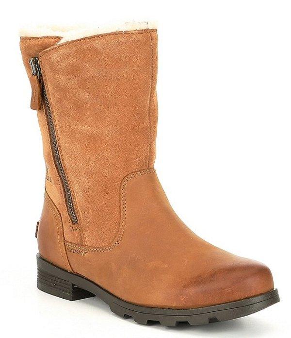 ソレル レディース ブーツ・レインブーツ シューズ Emelie Fold Over Faux Fur Lined Waterproof Boots Camel Brown
