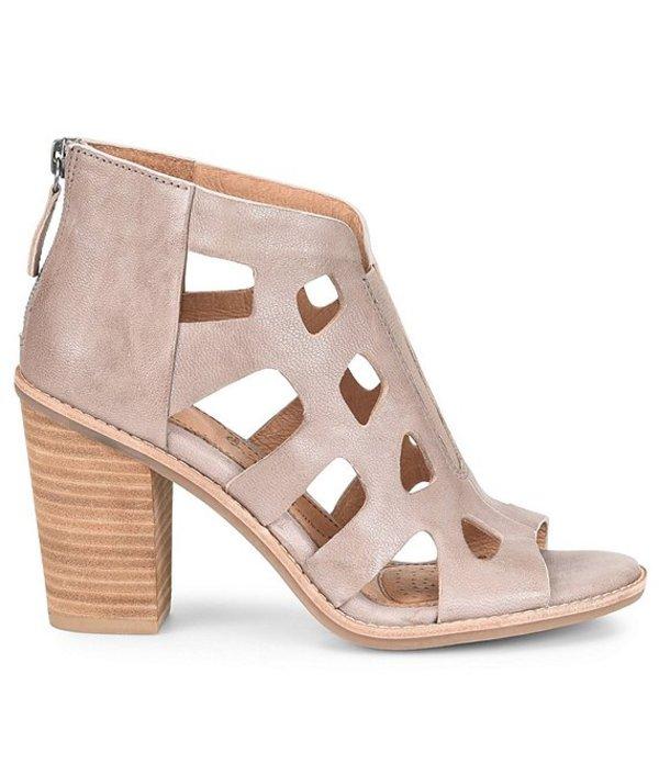 ソフト レディース サンダル シューズ Pazia Leather Block Heel Sandals Grey
