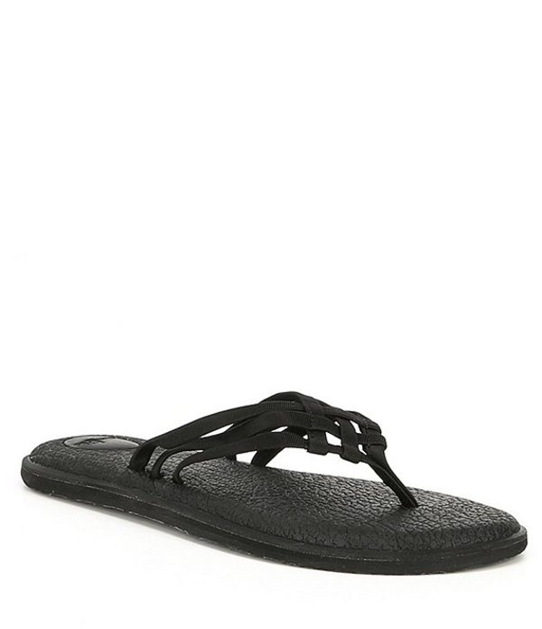 サヌーク レディース サンダル シューズ Women's Yoga Salty Flip Flop Sandals Black
