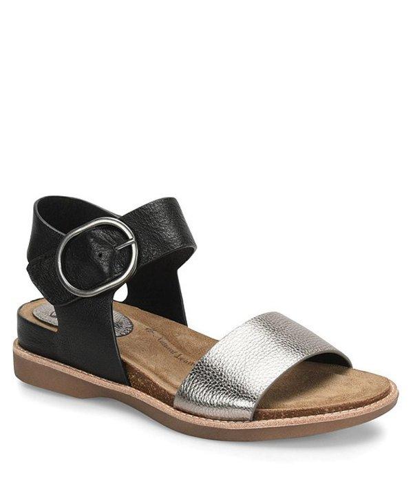 ソフト レディース サンダル シューズ Bali Metallic Leather Sandals Black
