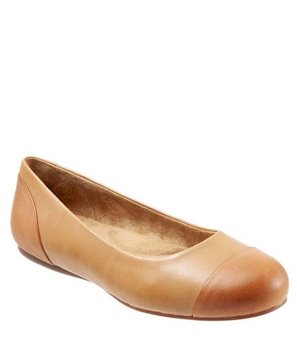 ソフトウォーク レディース パンプス シューズ Sonoma Cap Toe Nubuck Ballet Flats Tan
