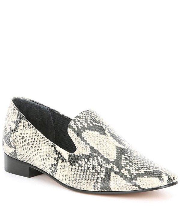 シュッツ レディース スリッポン・ローファー シューズ Flor Snake Print Block Heel Loafers Natural