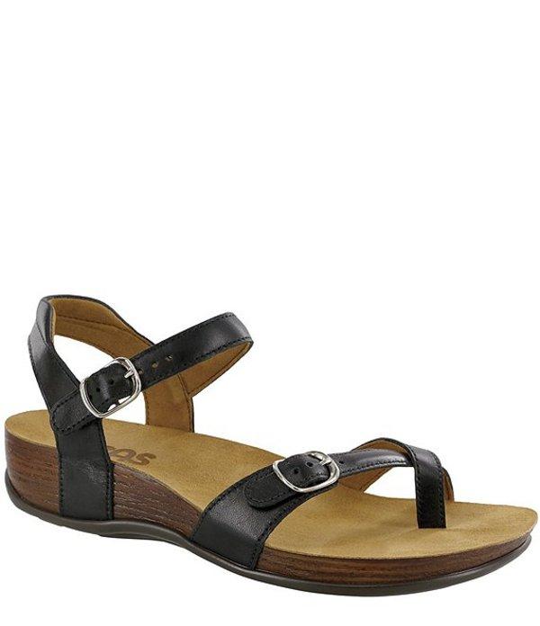 サス レディース サンダル シューズ Pampa Leather Sandals Black