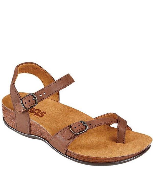 サス レディース サンダル シューズ Pampa Leather Sandals Chocolate