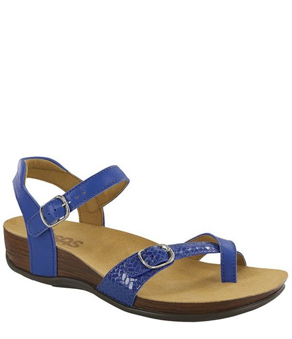 サス レディース サンダル シューズ Pampa Printed Weave Leather Sandals Sapphire/Weave