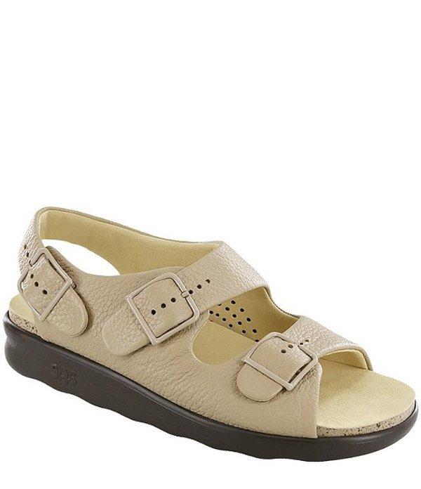 サス レディース サンダル シューズ Relaxed Leather Sandals Natural