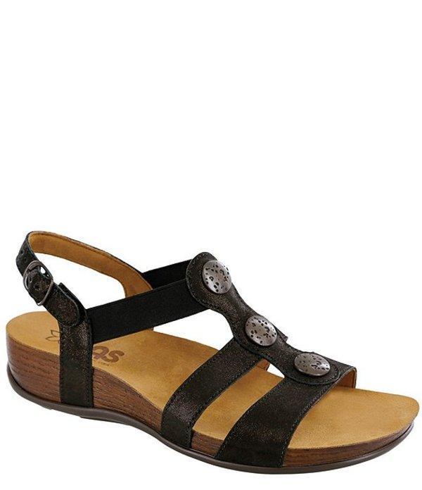 サス レディース サンダル シューズ Clover Leather Sandals Space Nero