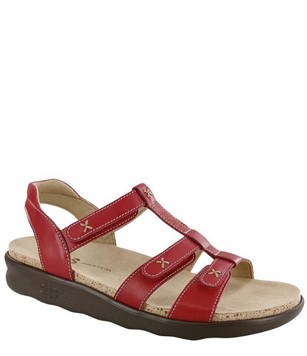 サス レディース サンダル シューズ Sorrento Comfort Sandals Red