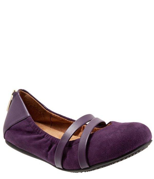 ソフトウォーク レディース パンプス シューズ Sierra Suede Mary Jane Ballerina Slip Ons Royal Purple Suede
