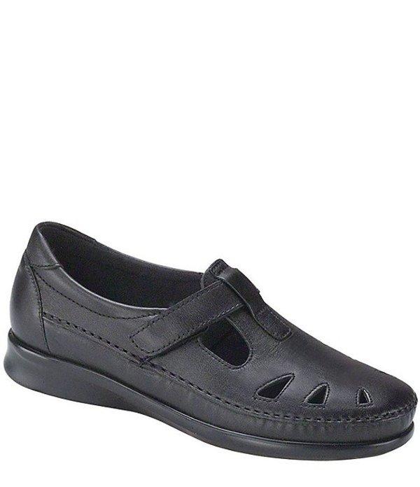 サス レディース パンプス シューズ Roamer Leather Flats Black