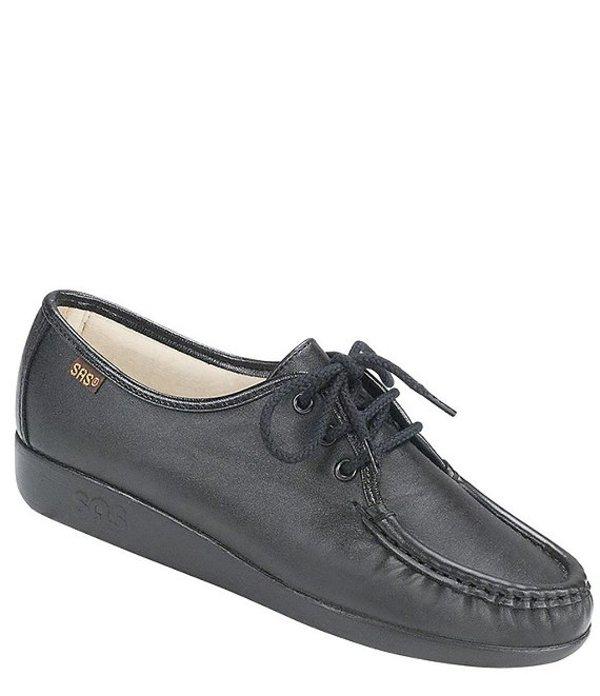 サス レディース オックスフォード シューズ Siesta Leather Wedge Oxford Black