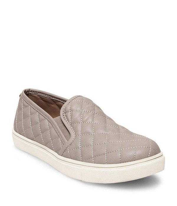 スティーブ マデン レディース スリッポン・ローファー シューズ Ecentrcq Quilted Slip-On Sneakers Grey