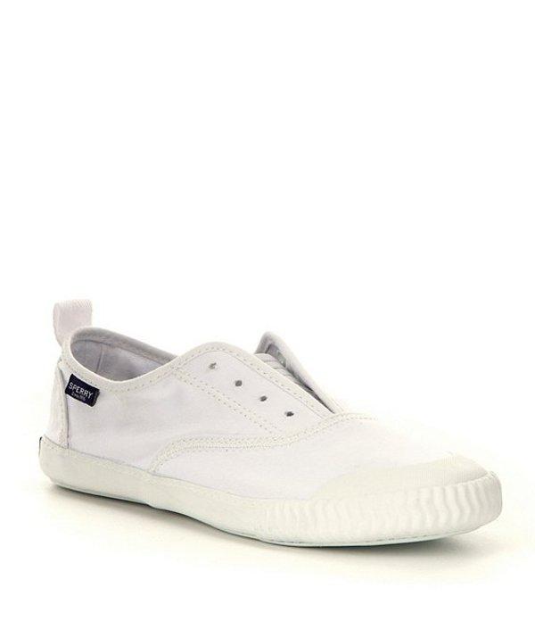スペリー レディース スリッポン・ローファー シューズ Paul Sperry Sayel Canvas Clew Slip-On Sneakers White