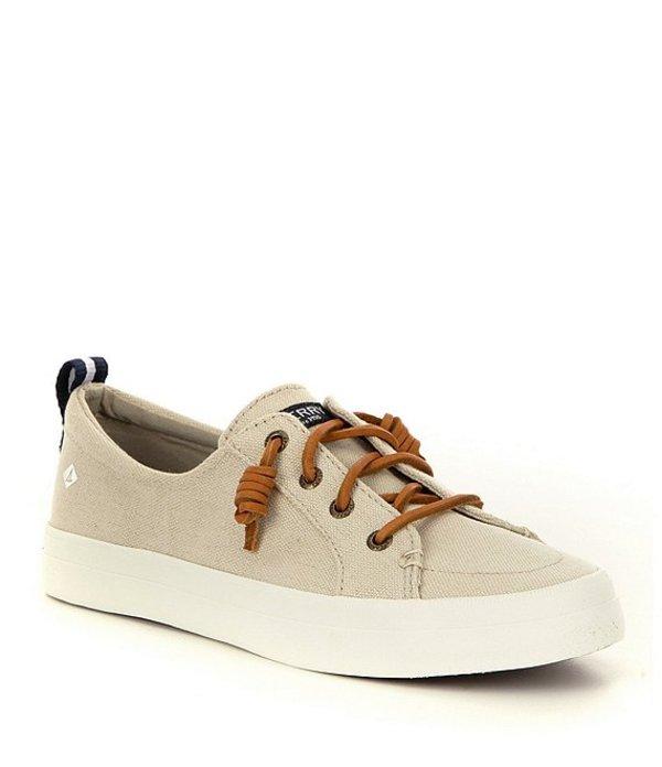 スペリー レディース スリッポン・ローファー シューズ Crest Vibe Canvas Lace-Up Sneakers Linen/Oat