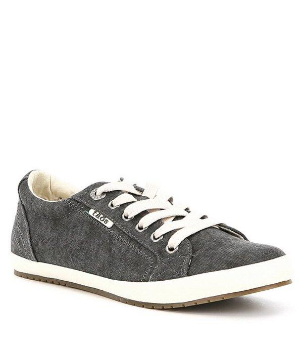 タオスフットウェア レディース スニーカー シューズ Star Canvas Sneakers Charcoal Washed
