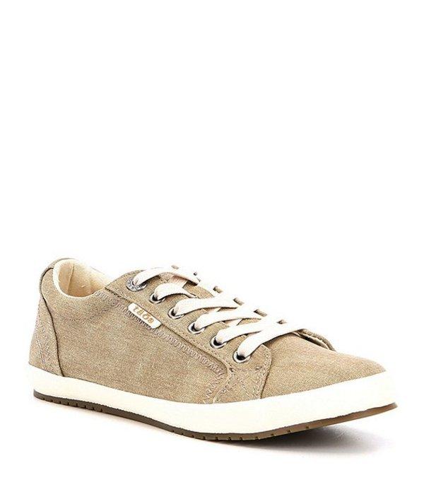 タオスフットウェア レディース スニーカー シューズ Star Canvas Sneakers Khaki Washed