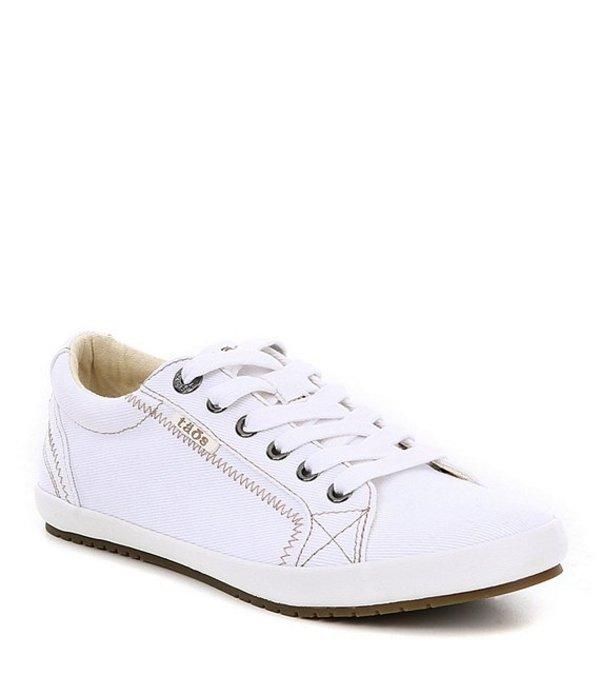 タオスフットウェア レディース スニーカー シューズ Star Canvas Sneakers White
