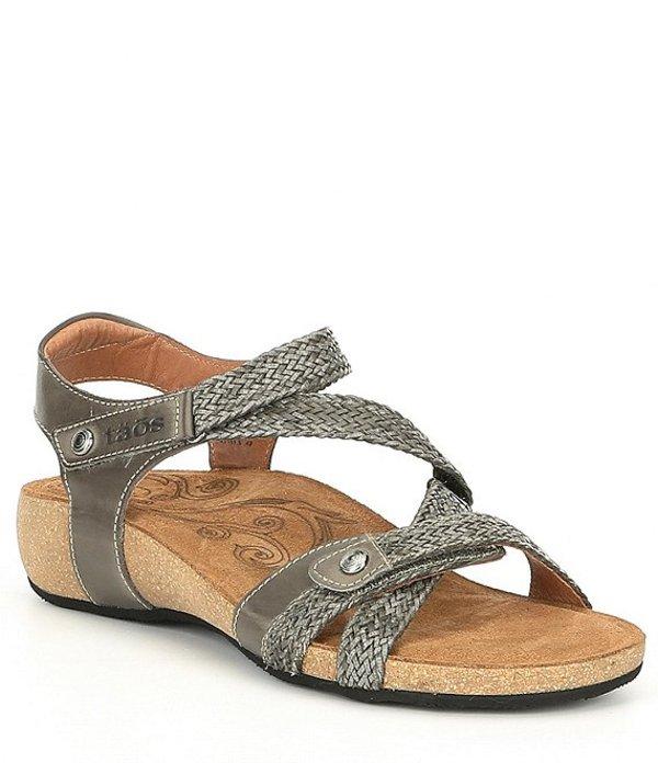 特別セーフ Sandals Trulie Grey:ReVida 店 タオスフットウェア サンダル シューズ Dark Wedge レディース-レディース靴