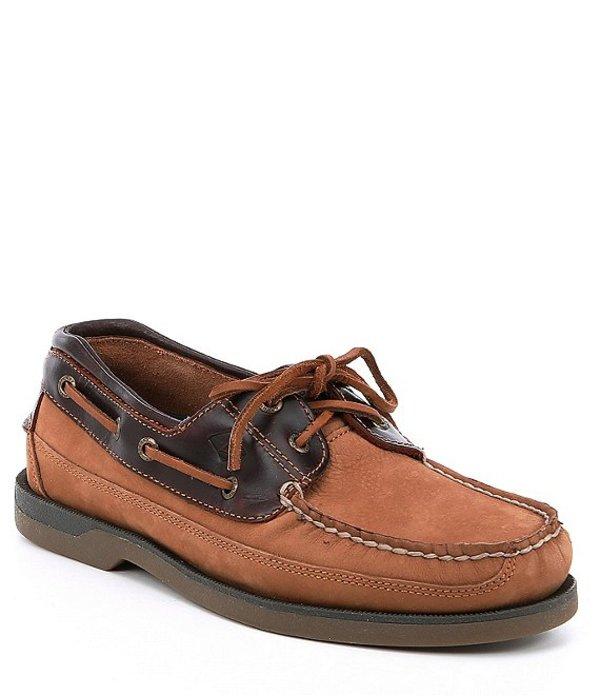 スペリー メンズ デッキシューズ シューズ Men's Mako 2-Eye Boat Shoe Taupe/Amaretto