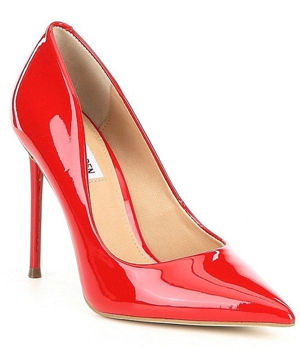 スティーブ マデン レディース ヒール シューズ Vala Patent Stiletto Pumps Red Patent