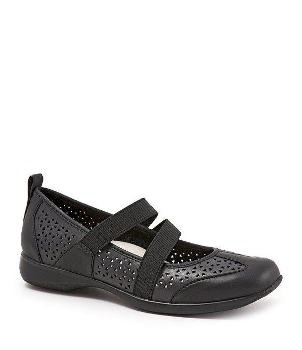 トロッターズ レディース パンプス シューズ Josie Perforated Leather Slip-Ons Black
