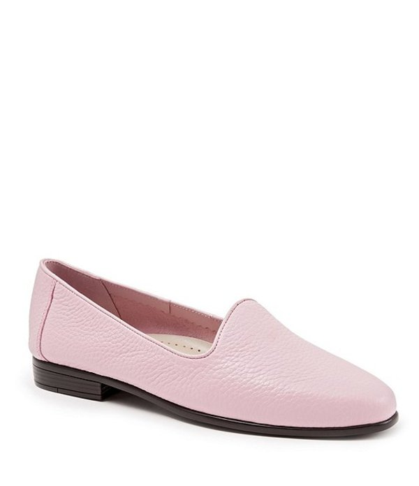 トロッターズ レディース スリッポン・ローファー シューズ Liz Tumbled Leather Flats Pink