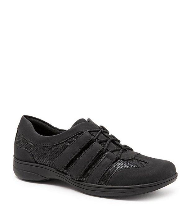 トロッターズ レディース スニーカー シューズ Joy Patent Suede Leather Walking Shoes Black