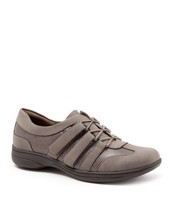 トロッターズ レディース スニーカー シューズ Joy Patent Suede Leather Walking Shoes Taupe