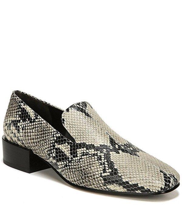 ヴィアスピガ レディース スリッポン・ローファー シューズ Baudelaire Snake Print Leather Dress Loafers Roccia