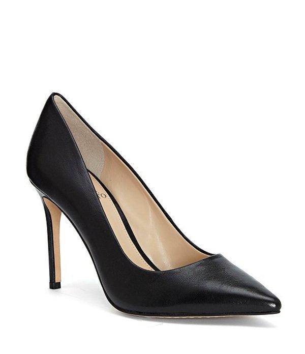 ヴィンスカムート レディース ヒール シューズ Savilla Leather Dress Pumps Black Leather