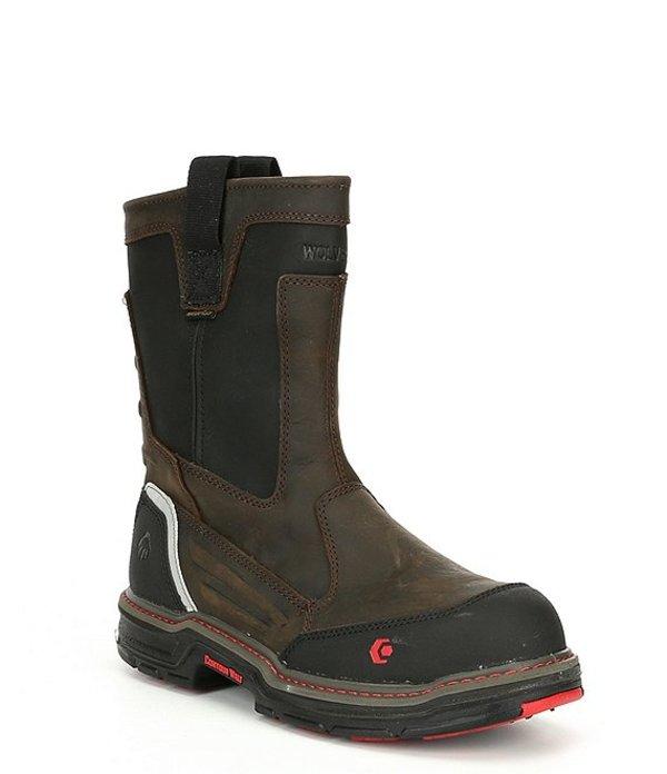ウルヴァリン メンズ ブーツ・レインブーツ シューズ Men's Overman Waterproof Composite-Toe Slip Resistant Work Boot Brown/Black