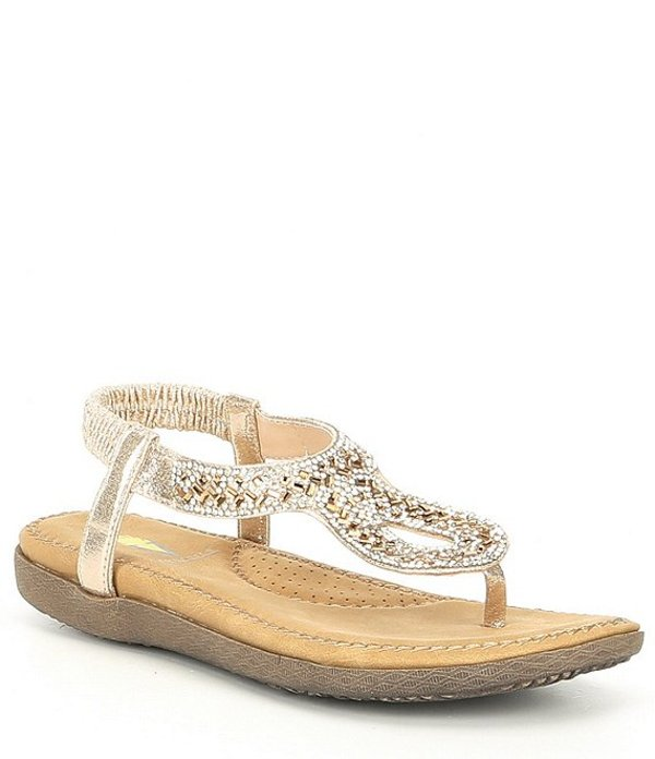 ボラティル レディース サンダル シューズ Cozi Jewel Embellished Thong Sandals Gold