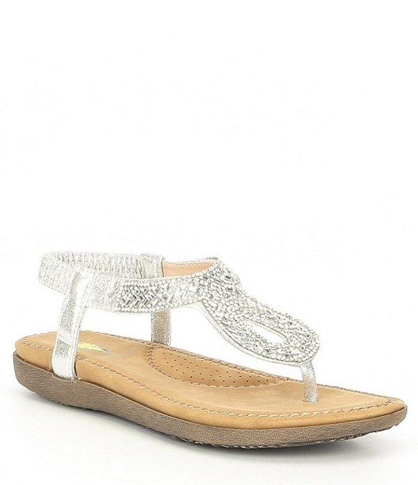 ボラティル レディース サンダル シューズ Cozi Jewel Embellished Thong Sandals Silver