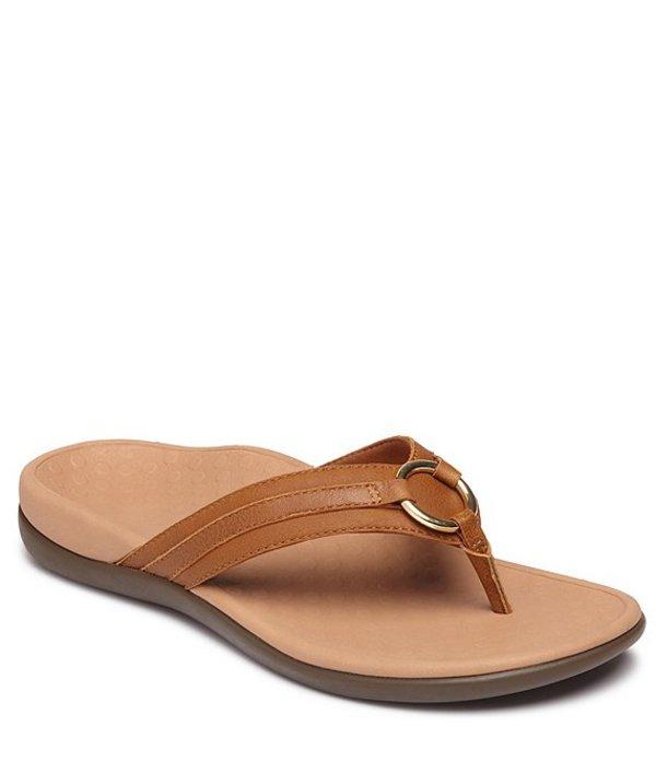 バイオニック レディース サンダル シューズ Aloe Suede Thong Sandals Toffee