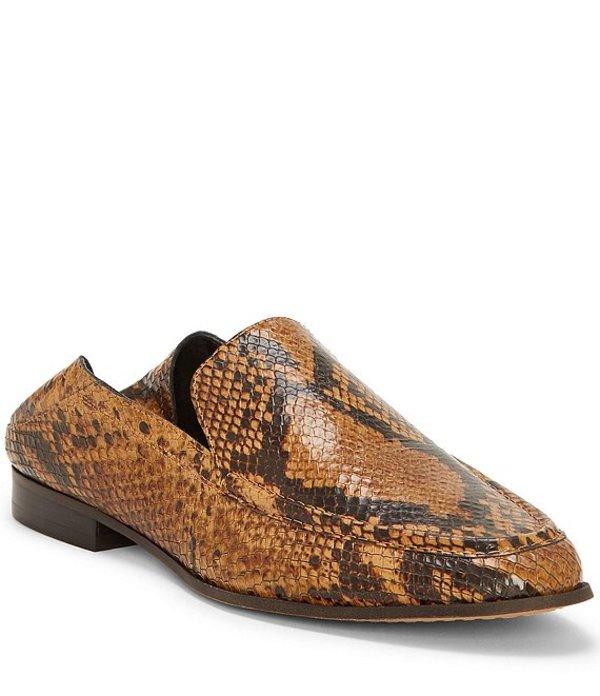 ヴィンスカムート レディース スリッポン・ローファー シューズ Jendeya2 Snake Embossed Leather Loafers Brown Multi