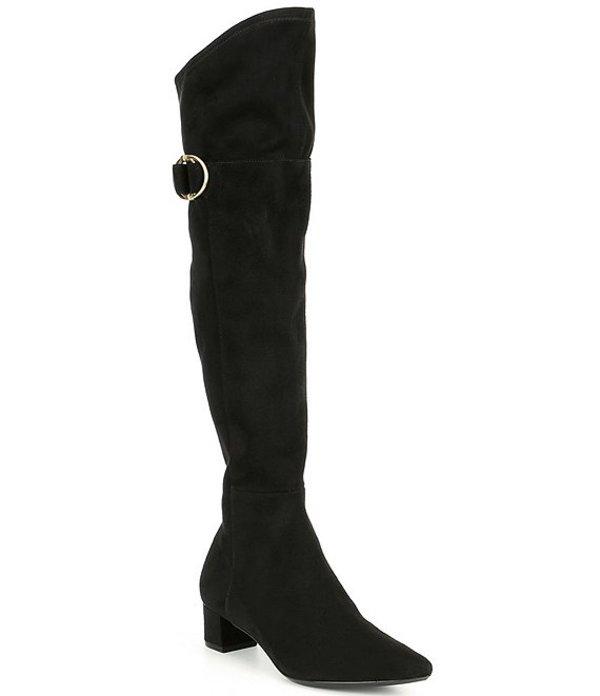 カルバンクライン レディース ブーツ・レインブーツ シューズ Georgeanna Over The Knee Stretch Boots Black