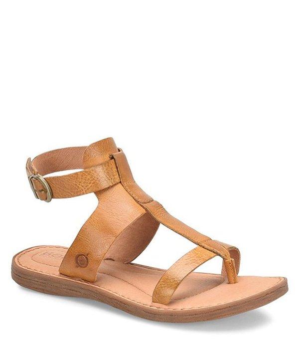 ボーン レディース サンダル シューズ St Helens Leather Gladiator Thong Sandals Yellow