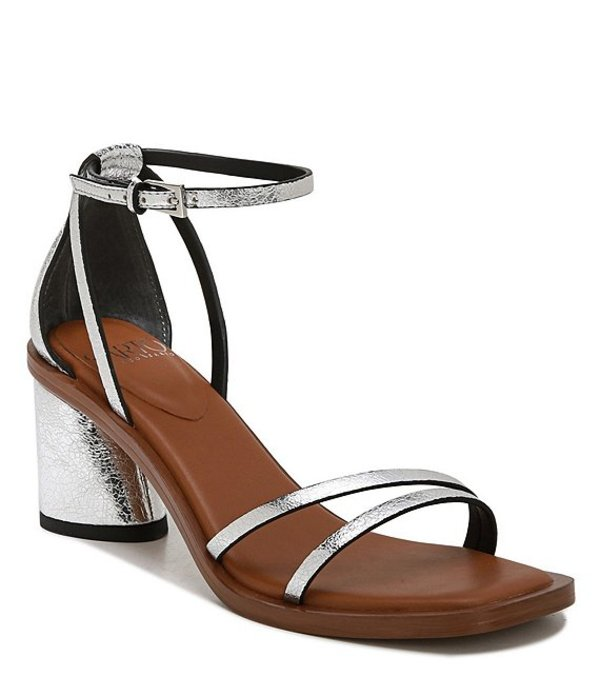 フランコサルト レディース サンダル シューズ Sarto by Franco Sarto Ronelle Metallic Leather Sandals Silver