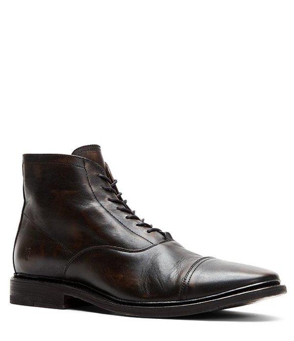 フライ メンズ ブーツ・レインブーツ シューズ Men's Paul Leather Lace Up Leather Boot Black