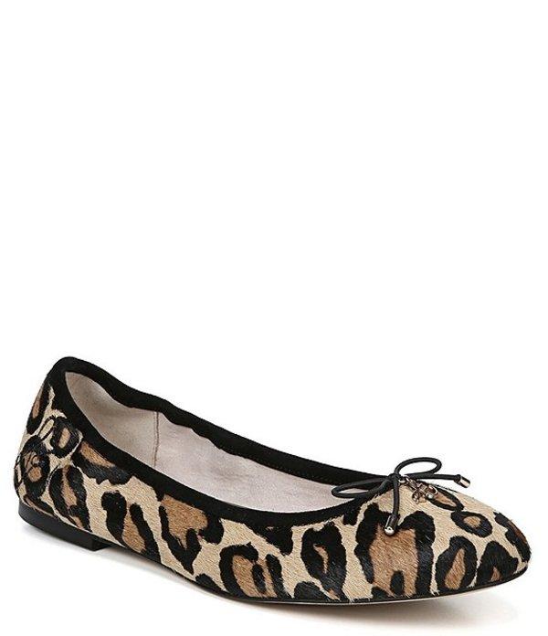 サムエデルマン レディース パンプス シューズ Felicia Leopard Print Calf Hair Flats Leopard