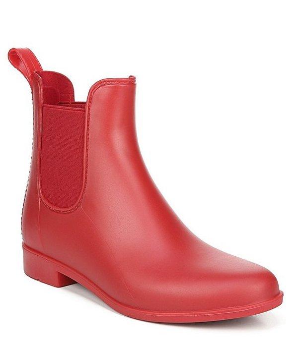サムエデルマン レディース ブーツ・レインブーツ シューズ Tinsley Chelsea Matte Rubber Rain Booties Lipstick Red