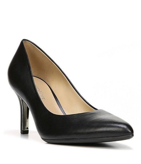 ナチュライザー レディース パンプス シューズ Natalie Leather Slip-On Pumps Black