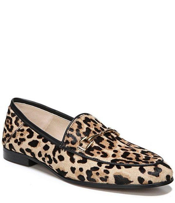 サムエデルマン レディース スリッポン・ローファー シューズ Loraine Leopard Print Calf Hair Bit Embellishment Block Heel Loafers Sand Leopard