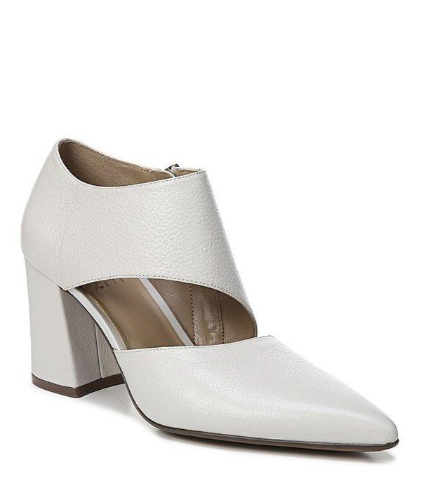 ナチュライザー レディース ヒール シューズ Hoda Asymmetrical Leather Block Heel Pumps Alabaster