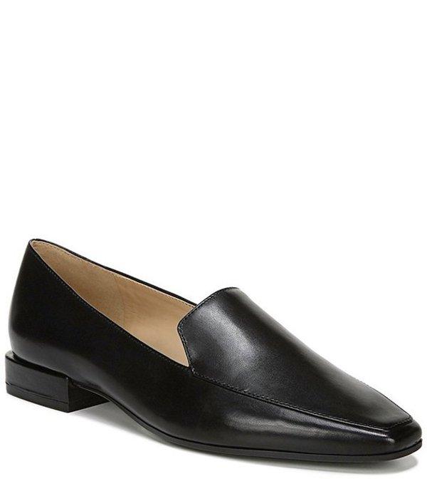 ナチュライザー レディース スリッポン・ローファー シューズ Clea Leather Block Heel Loafers Black Leather
